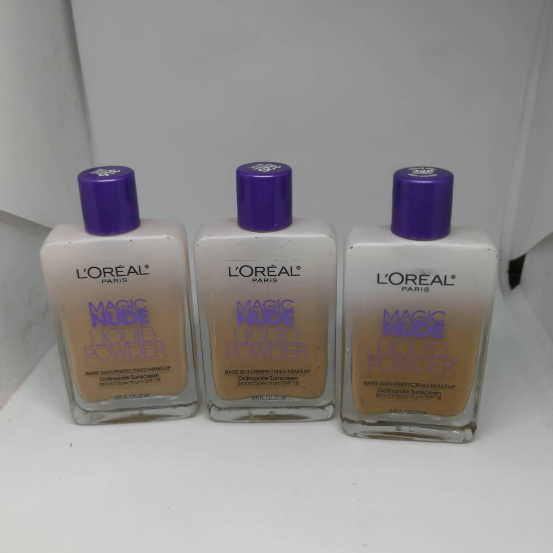 4 LOreal Paris Magic Nude Liquid Powder Bare Skin Makeup SUN BEIGE #328 71249252895 | eBay